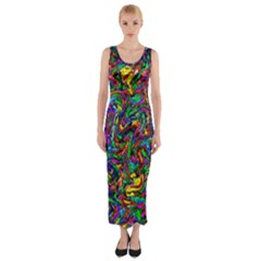 Artwork By Patrick Pattern 31 1 Fitted Maxi Dress