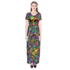 Artwork By Patrick Pattern 31 1 Short Sleeve Maxi Dress