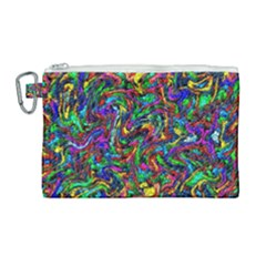 Artwork By Patrick Pattern 31 1 Canvas Cosmetic Bag (large)