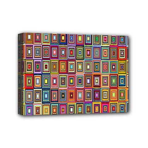 Artwork By Patrick Pattern 33 Mini Canvas 7  X 5