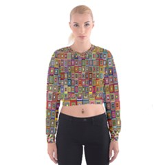 Artwork By Patrick Pattern 33 Cropped Sweatshirt
