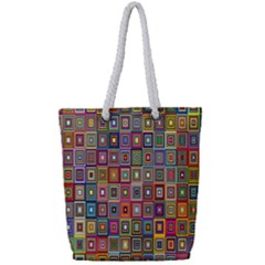 Artwork By Patrick Pattern 33 Full Print Rope Handle Tote (small)