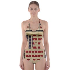 Usa Cut Out One Piece Swimsuit