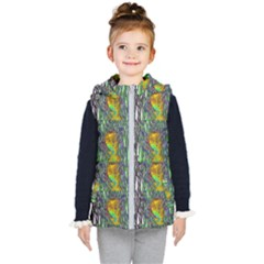 May Be A Woman In Manga Fire Kid s Hooded Puffer Vest