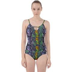 May Be A Woman In Manga Fire Cut Out Top Tankini Set