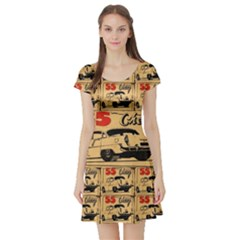 55 Chevy Short Sleeve Skater Dress