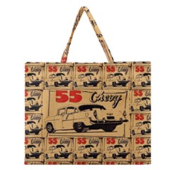 55 Chevy Zipper Large Tote Bag