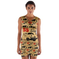 55 Chevy Wrap Front Bodycon Dress