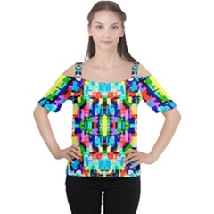 Artwork By Patrick  Colorful 1 Cutout Shoulder Tee