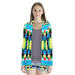 Artwork By Patrick  Colorful 1 Drape Collar Cardigan