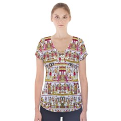 2 9 Short Sleeve Front Detail Top
