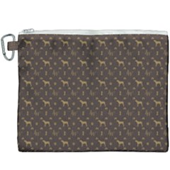 Louis Weim Luxury Dog Attire Canvas Cosmetic Bag (xxxl)