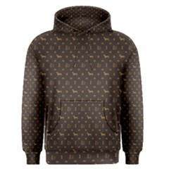 Louis Dachshund  Luxury Dog Attire Men s Pullover Hoodie