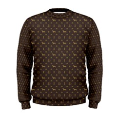 Louis Dachshund  Luxury Dog Attire Men s Sweatshirt