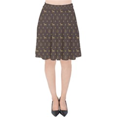 Louis Dachshund  Luxury Dog Attire Velvet High Waist Skirt