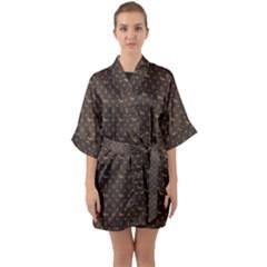 Louis Dachshund  Luxury Dog Attire Quarter Sleeve Kimono Robe