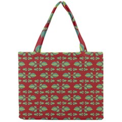Tropical Stylized Floral Pattern Mini Tote Bag
