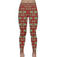 Tropical Stylized Floral Pattern Classic Yoga Leggings