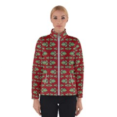 Tropical Stylized Floral Pattern Winterwear