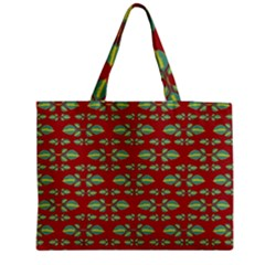Tropical Stylized Floral Pattern Medium Tote Bag