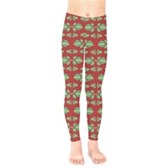 Tropical Stylized Floral Pattern Kids  Legging