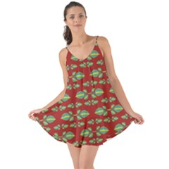Tropical Stylized Floral Pattern Love The Sun Cover Up