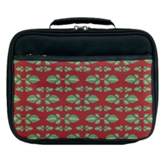Tropical Stylized Floral Pattern Lunch Bag