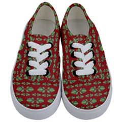 Tropical Stylized Floral Pattern Kids  Classic Low Top Sneakers