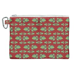 Tropical Stylized Floral Pattern Canvas Cosmetic Bag (xl)