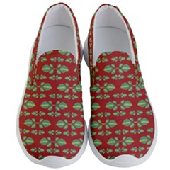 Tropical Stylized Floral Pattern Men s Lightweight Slip Ons