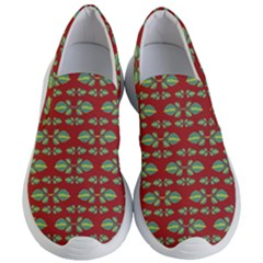 Tropical Stylized Floral Pattern Women s Lightweight Slip Ons