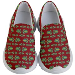 Tropical Stylized Floral Pattern Kid s Lightweight Slip Ons
