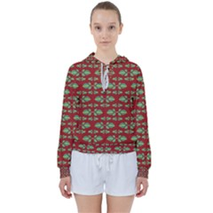 Tropical Stylized Floral Pattern Women s Tie Up Sweat