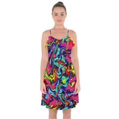 Pattern 34 Ruffle Detail Chiffon Dress