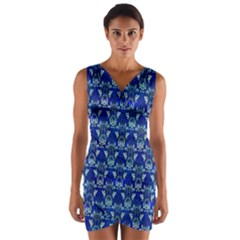 Artwork By Patrick Victorian Wrap Front Bodycon Dress