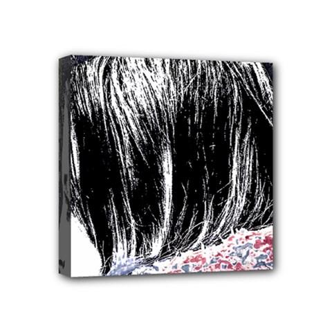 Grunge Graffiti Style Women Poster Mini Canvas 4  X 4