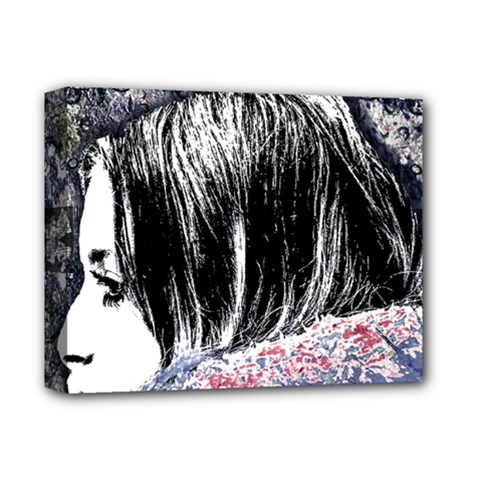 Grunge Graffiti Style Women Poster Deluxe Canvas 14  X 11