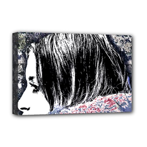 Grunge Graffiti Style Women Poster Deluxe Canvas 18  X 12