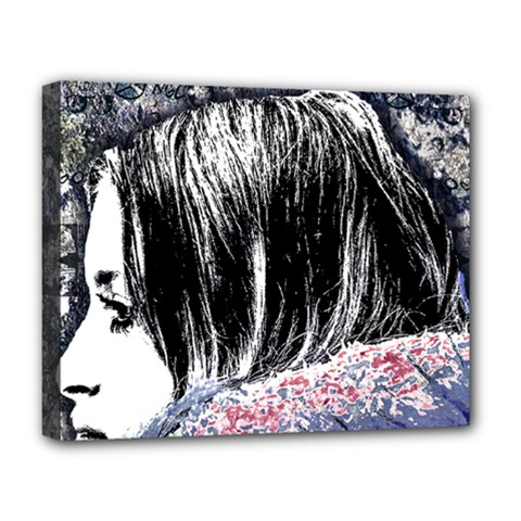 Grunge Graffiti Style Women Poster Deluxe Canvas 20  X 16