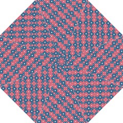 Squares And Circles Motif Geometric Pattern Hook Handle Umbrellas (large)