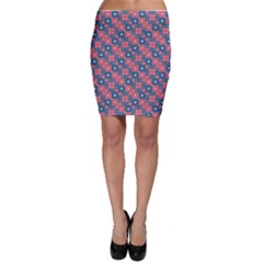 Squares And Circles Motif Geometric Pattern Bodycon Skirt
