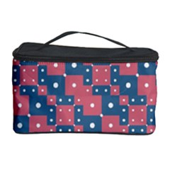 Squares And Circles Motif Geometric Pattern Cosmetic Storage Case