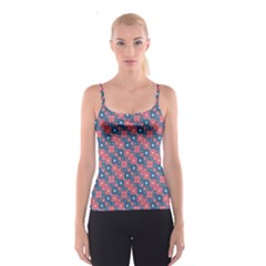 Squares And Circles Motif Geometric Pattern Spaghetti Strap Top