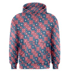 Squares And Circles Motif Geometric Pattern Men s Pullover Hoodie