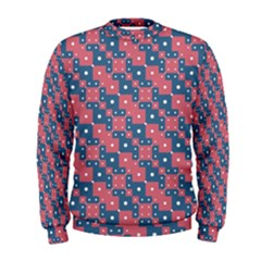 Squares And Circles Motif Geometric Pattern Men s Sweatshirt