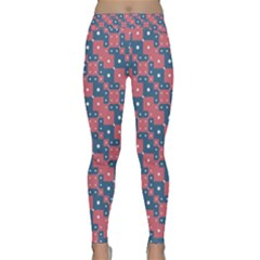 Squares And Circles Motif Geometric Pattern Classic Yoga Leggings