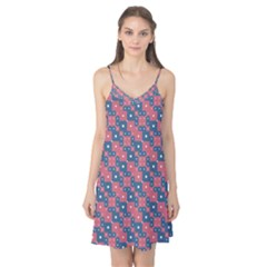 Squares And Circles Motif Geometric Pattern Camis Nightgown