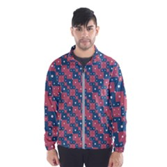 Squares And Circles Motif Geometric Pattern Wind Breaker (men)