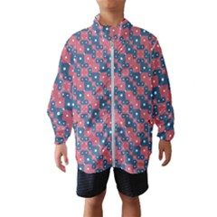 Squares And Circles Motif Geometric Pattern Wind Breaker (kids)