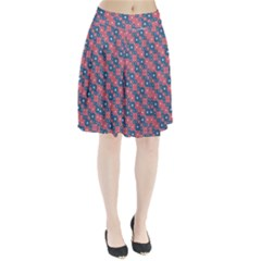 Squares And Circles Motif Geometric Pattern Pleated Skirt